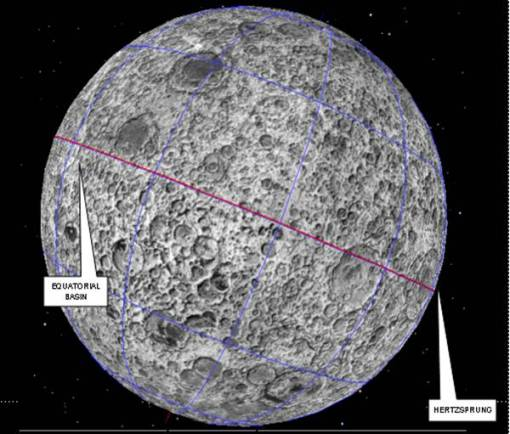 Sconcertante simmetria di crateri posti esattamente sull'equatore lunare