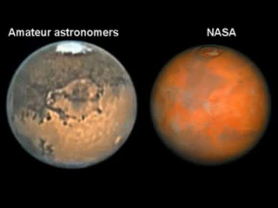 Immagine di Marte amatoriale e Nasa 2