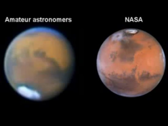 Picture of Mars amateur and Nasa 3