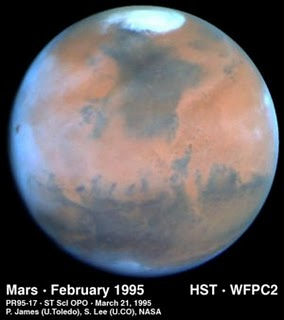 Mars seen by the Hubble Space Telescope