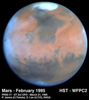 Marte visto dal telescopio spaziale Hubble