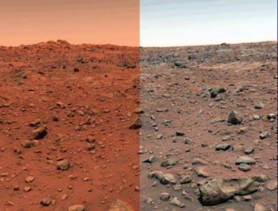 A sinistra una foto della Nasa e a destra una versione più realistica