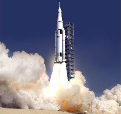 SLS (Space Launch System)  Naturalmente è una simulazione grafica