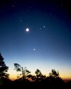 Congiunzione planetaria di Mercurio Marte Venere Giove