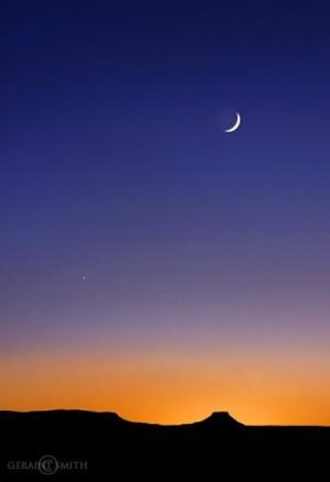 Venere-Luna-tramonto