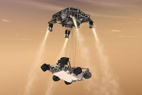 Ultima fase disegnata dell'atterraggio di Curiosity