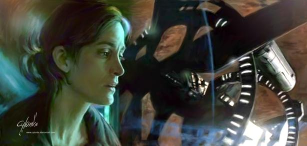 Il comandante Kate Bowman in Pianeta Rosso (l'attrice canadese Carrie-Anne Moss)