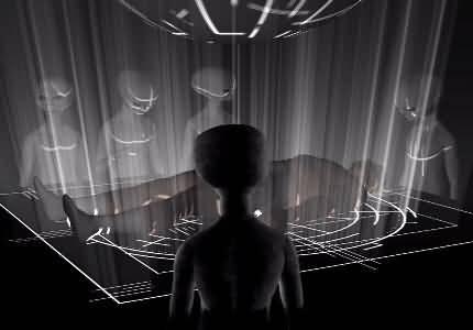 Illustrazione di rapimento UFO a scopo di esochirurgia