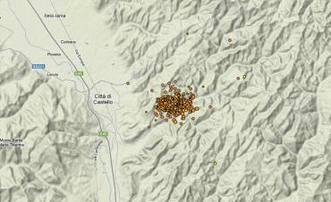 Sciame sismico in Umbria: registrati 280 terremoti - mappa