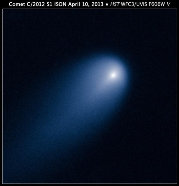 La cometa ISON fotografata dal telescopio spaziale Hubble