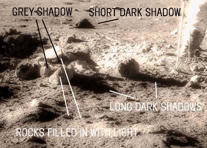 Anomalie nelle foto dello sbarco sulla Luna