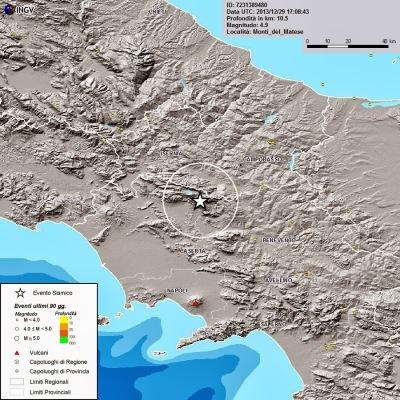 Terremoto innescato dalla NATO tra Caserta e Benevento