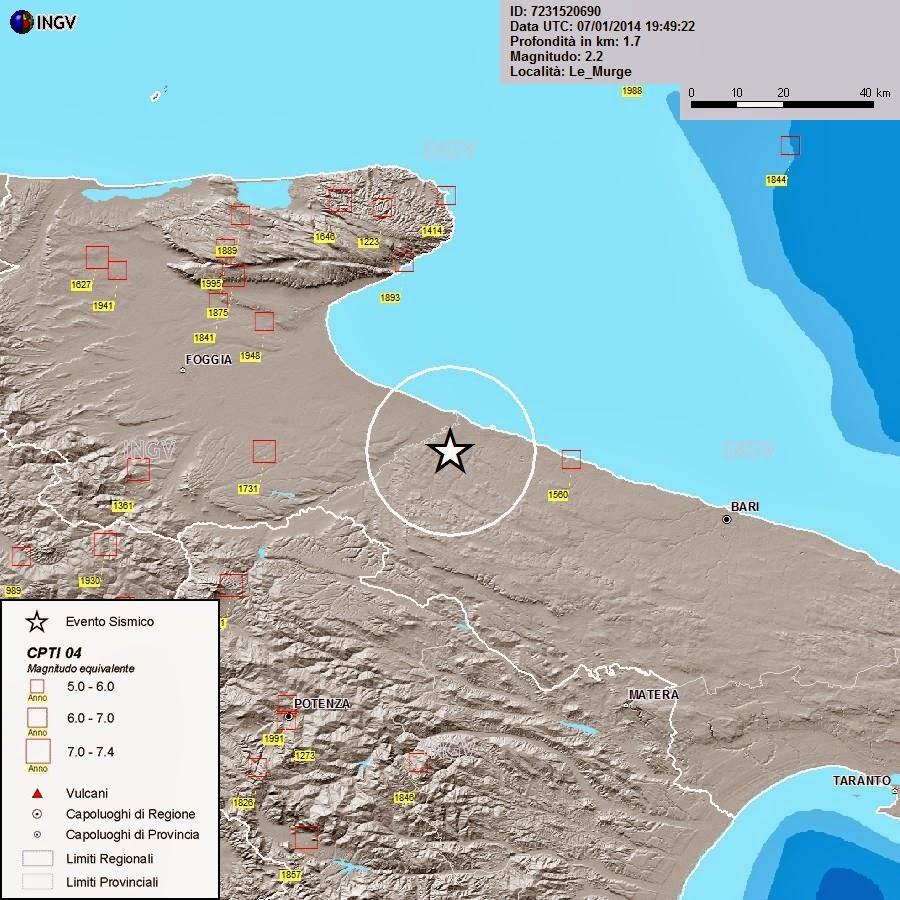 Terremoto superficiale e scie chimiche in Puglia