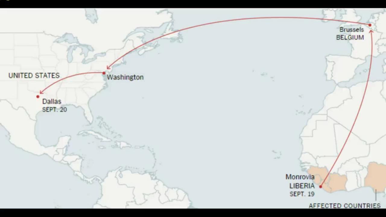 Ebola fra Europa e Stati Uniti (Clicca per ingrandire)