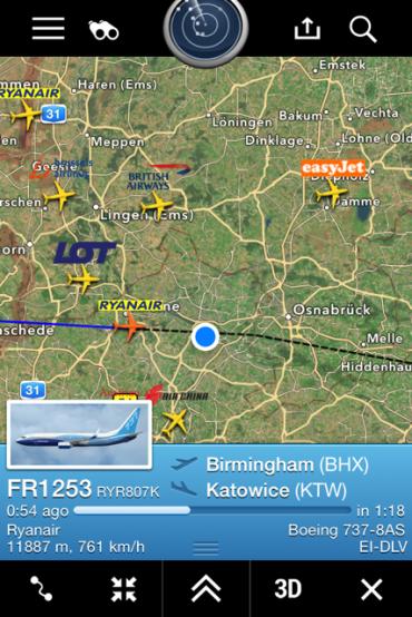 Volo RyanAir Birmingham Katowice