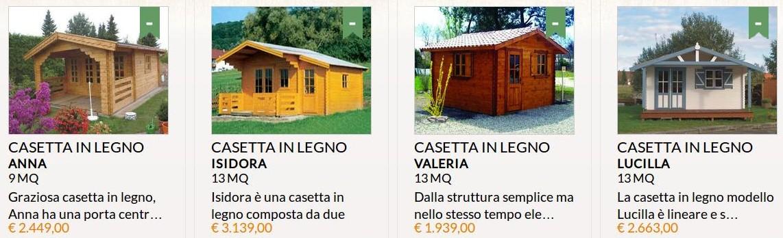 Casette di legno arredamento