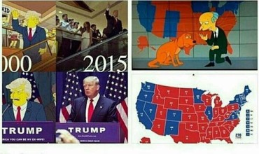 trump simpsons profezia