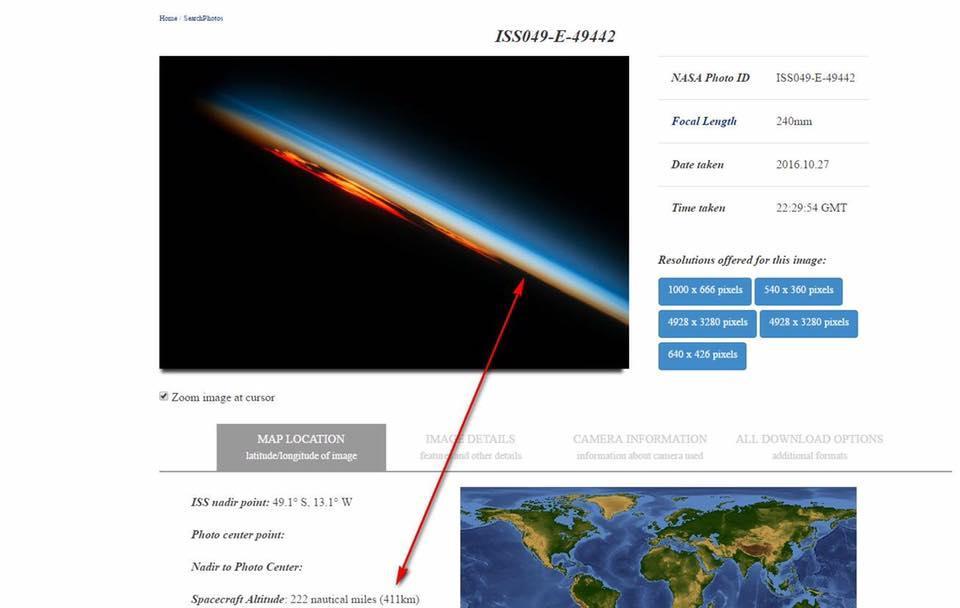 NASA terra piatta