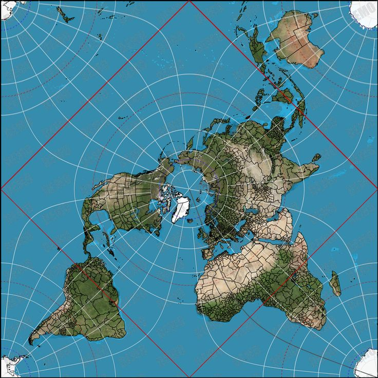 Mappa terra piana