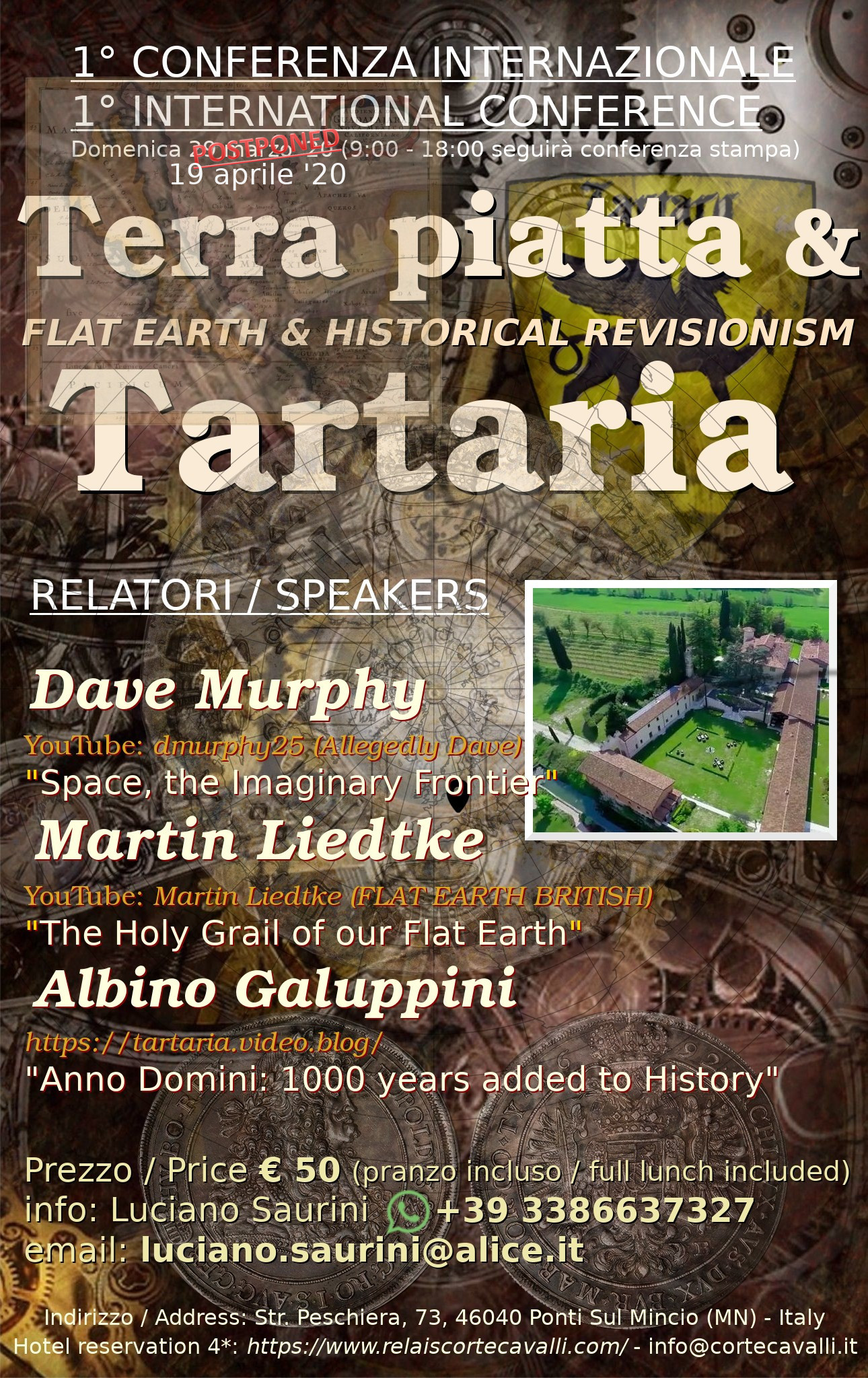 International Flat Earth and Tartaria conference -19 aprile 2020