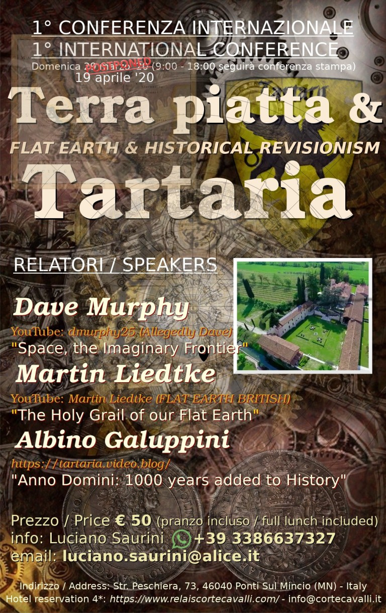 International Flat Earth and Tartaria conference - April 19, 2020